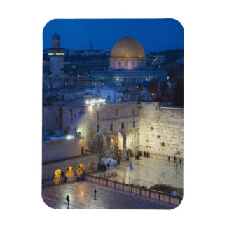 View of Western Wall Plaza, late evening Magnet