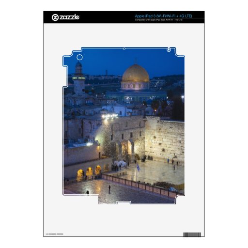 View of Western Wall Plaza, late evening Skins For iPad 3