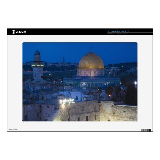 """View of Western Wall Plaza, late evening Skin For 15"""" Laptop"""