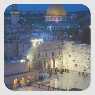 View of Western Wall Plaza, late evening Square Sticker