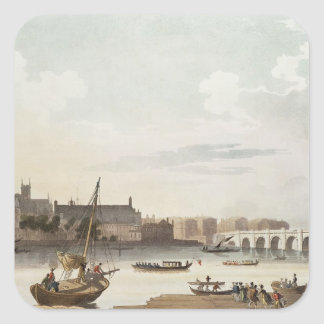 View of Westminster and the Bridge Square Sticker