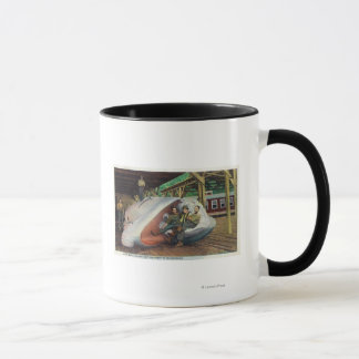 View of Whale Hunters Reclining on Whale Mug
