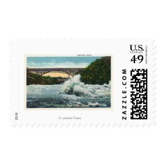 View of Whirlpool Rapids Bridge and Whirlpool Postage Stamps