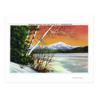 View of Whiteface Mountain from the Lake in Postcard