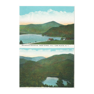 View of Whiteface Mt from Signal Hill, Heart Canvas Print