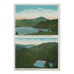 View of Whiteface Mt from Signal Hill, Heart Print