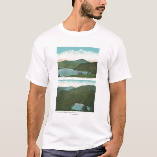 View of Whiteface Mt from Signal Hill, Heart T-Shirt