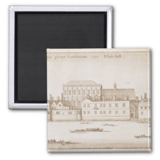 View of Whitehall, 1645 2 Inch Square Magnet