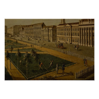 View of Wilhelmsplatz from the north, 1773 Poster
