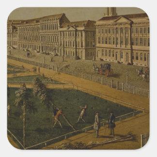 View of Wilhelmsplatz from the north, 1773 Square Sticker