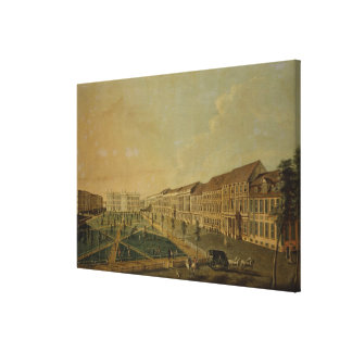 View of Wilhelmsplatz from the south, 1773 Stretched Canvas Prints