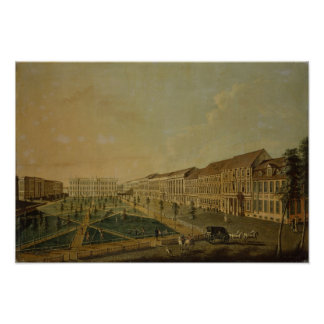 View of Wilhelmsplatz from the south, 1773 Poster