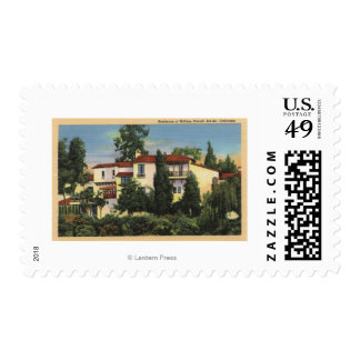 View of William Powell's Residence Postage