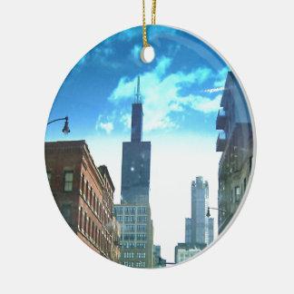 View of Willis Tower Ceramic Ornament