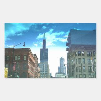 View of Willis Tower Rectangular Sticker