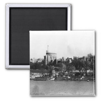 View of Windsor Castle, across the River Thames 2 Inch Square Magnet