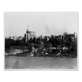 View of Windsor Castle, across the River Thames Poster