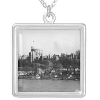 View of Windsor Castle, across the River Thames Silver Plated Necklace