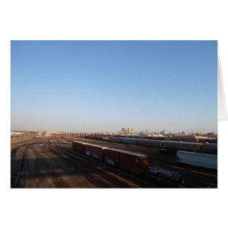 View of Winnipeg & Train Yard Card