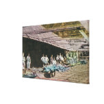 View of Workers at Eureka Slate Quarry Gallery Wrapped Canvas
