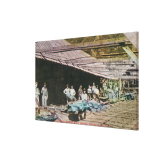 View of Workers at Eureka Slate Quarry Canvas Print
