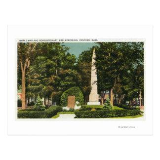 View of World War, Revolutionary War Memorials Postcard