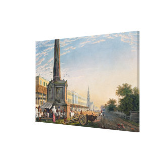 View of Writers Buildings from the Monument at the Canvas Print