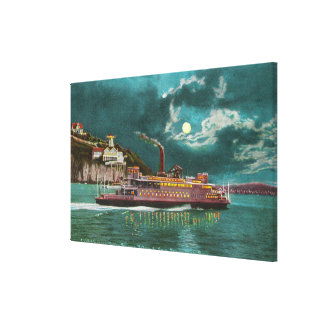 View of Yerba Buena Island Lighthouse at Night Gallery Wrapped Canvas