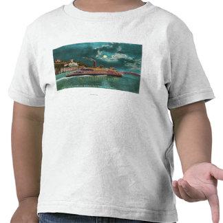 View of Yerba Buena Island Lighthouse at Night Shirts