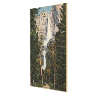 View of Yosemite Falls & Valley Canvas Print