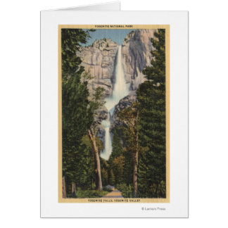 View of Yosemite Falls & Valley Card