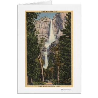 View of Yosemite Falls & Valley Card