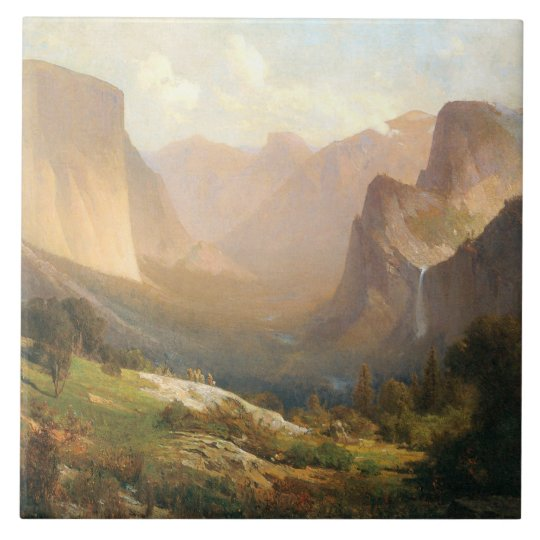 View of Yosemite Valley - Large Ceramic Tile