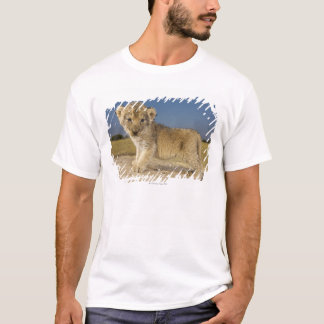 View of young lion cub (Panthera leo), looking T-Shirt