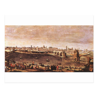 View of Zaragoza by Diego Velazquez Postcard