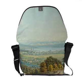 View of Zurich, c.1840 (w/c) Courier Bag