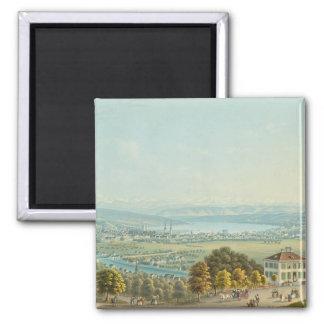 View of Zurich, c.1840 (w/c) Magnet