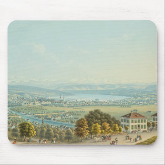 View of Zurich, c.1840 (w/c) Mouse Pad