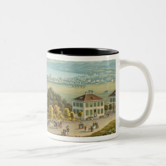 View of Zurich, c.1840 (w/c) Two-Tone Coffee Mug