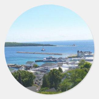 View off Mackinac Island Classic Round Sticker