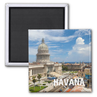 View on a building of Capitol in Havana, Cuba Magnet