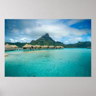 View on Bora Bora island poster