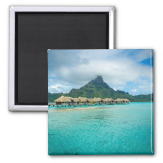 View on Bora Bora island square magnet