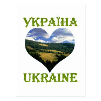 View on Carpathian Mountains Postcard