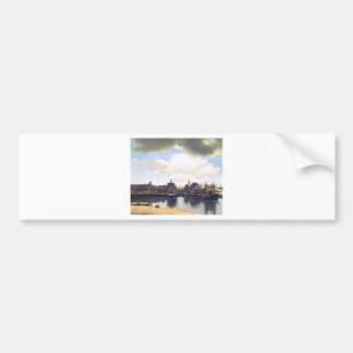View on Delft by Johannes Vermeer Bumper Sticker