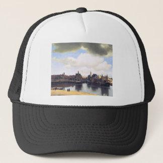 View on Delft by Johannes Vermeer Trucker Hat