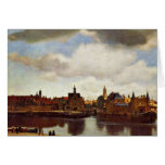 View On Delft, The  By Johannes Vermeer (Best Qual Card