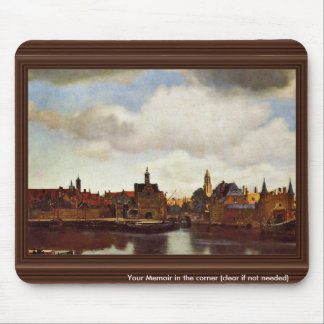 View On Delft, The  By Johannes Vermeer (Best Qual Mouse Pad