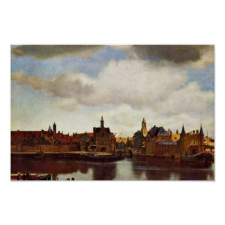 View On Delft, The  By Johannes Vermeer (Best Qual Poster