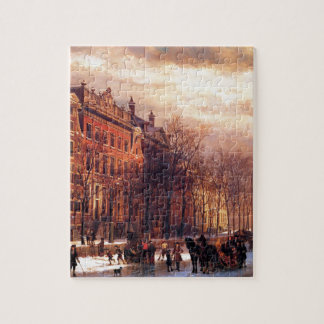 View on Heerengracht in Amsterdam by Cornelis Jigsaw Puzzle